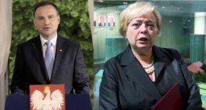 Andrzej Duda i Małgorzata Gersdorf / Fot. Youtube
