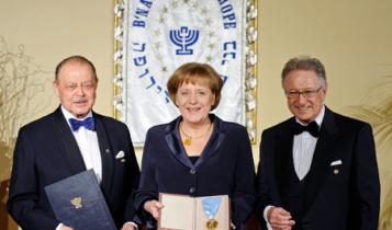 Kanclerz Angela Merkel otrzymała nagrodę od przedstawicieli loży B'nai B'rith