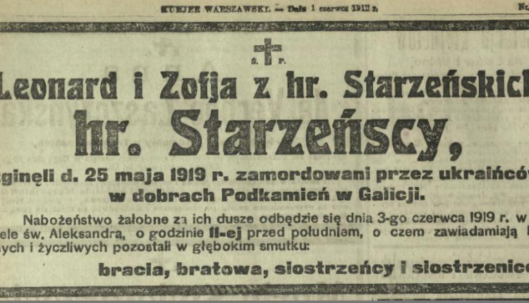 śp Ludwik i Zofia Starzeńscy