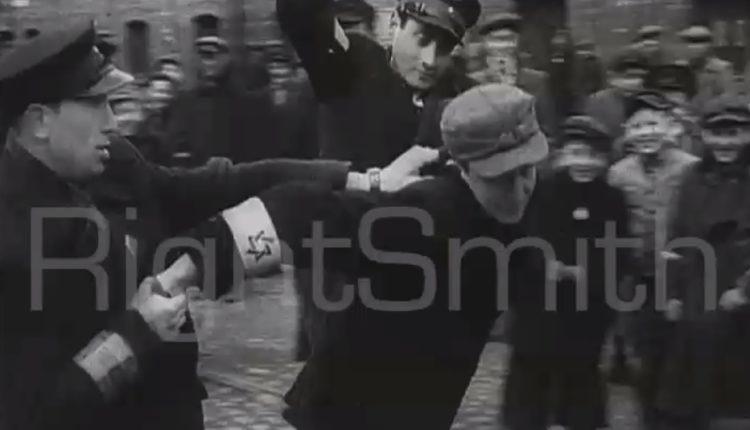 Żydowscy policjanci okładają innego Żyda w getcie warszawskim / Fot. wPrawo.pl