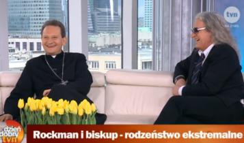 Bp Rafał Markowski i wokalista Grzegorz Markowski / Fot. TVN