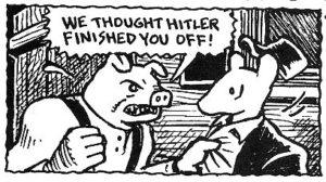 Polskie świnie w Muzeum w Auschwitz, komiks Maus