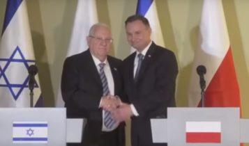 Reuven Rivlin i Andrzej Duda 12/04/2018 / Fot. Youtube
