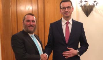 rabin Boteach i premier Morawiecki/ fot. twitter