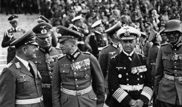 Feldmarszałek Erhard Milch (z lewej) w towarzystwie feldmarszałków Wilhelma Keitela, Walthera von Brauchitscha / Fot. wp