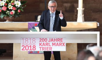 Juncker na rocznicy urodzin Marksa/fot. twitter