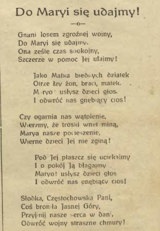Maryja Królowa Polski Wierna Matka Narodu Polskiego