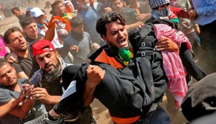 demonstracje w Strefie Gazy/ fot. twitter
