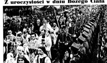Obchody Bożego Ciała w Spale, [w] Nowiny, 1938, nr 47, s.1