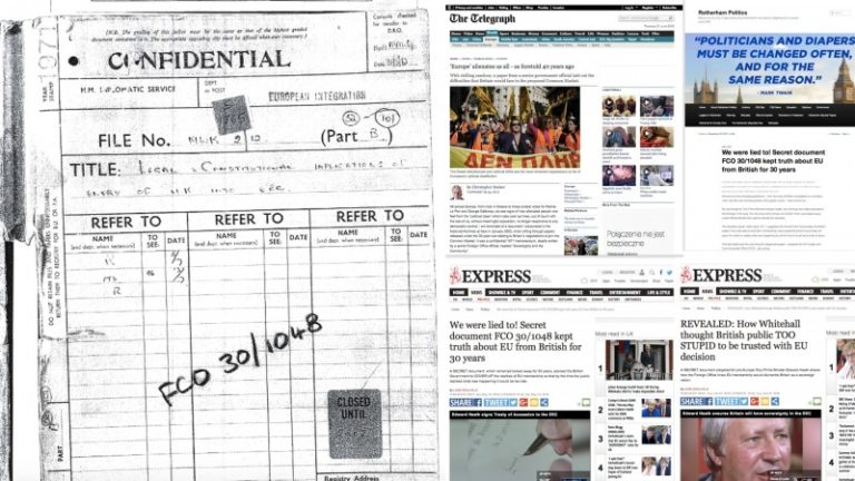 """Brytyjskie gazety """"The Telegraph"""" oraz """"Express"""" o FCO 30/1048"""