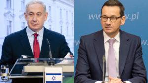 Od lewej Benjamin Netanjahu i Mateusz Morawiecki / Fot. YouTube