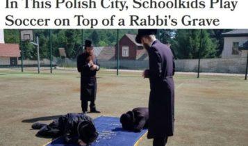 Żydzi chcą likwidacji boiska szkolnego! Twierdzą, że polska młodzież kopie w piłkę na żydowskich szczątkach / Fot. zrzut ekrany - Haaretz
