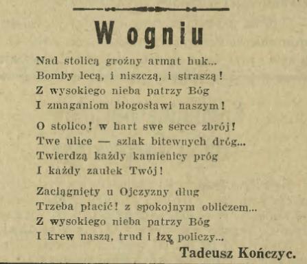 Kampania Polska 39 Na łamach Kurjera Warszawskiego 8 17