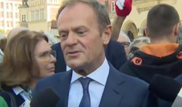 Donald Tusk w Krakowie/ fot. twitter