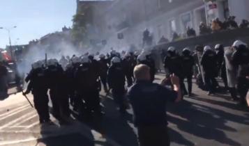 akcja policji podczas Parady Równości w Lublinie/ fot, twitter