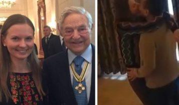 Ludmyla Kozlovska i George Soros, a po prawej Kozlovska w ramionach Mukhtara Ablyazova
