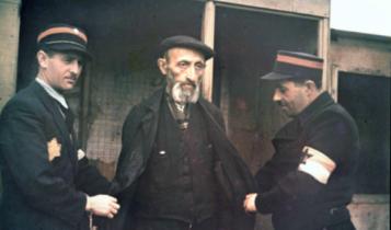 koloryzowane zdjęcie z łódzkiego getta/ fot. arch.
