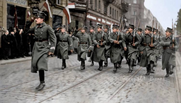 1. Pułk Strzelców Wielkopolskich/ fot. arch, koloryzacja Mikołaj Kaczmarek