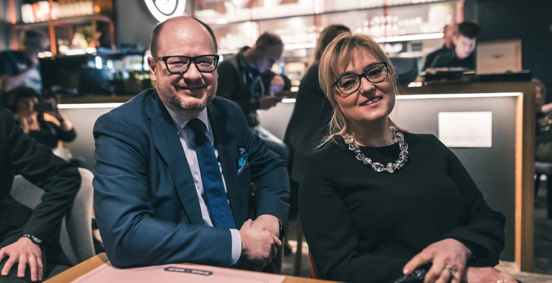 Paweł Adamowicz z żoną / Fot. Facebook