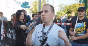 Adam Andruszkiewicz jako aktywny działacz Młodzieży Wszechpolskiej i Ruchu Narodowego / Fot. YouTube