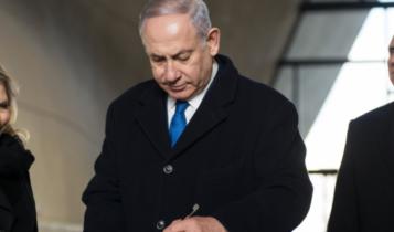 Benjamin Netanjahu w Muzeum POLIN/ fot. twitter