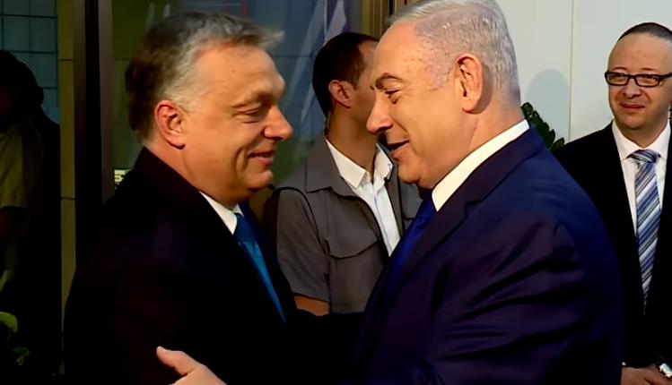 Victor Orban i Benjamin Netanjahu/ fot. screen