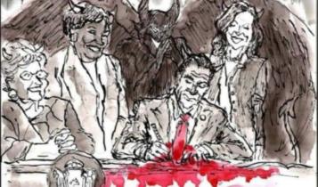 podpisanie ustawy proaborcyjnej w stanie NY/ fot. twitter