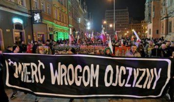 Marsz w Hołdzie Żołnierzom Wyklętym we Wrocławiu (1 marca 2019) / Fot. Twitter