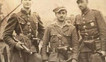 """Żołnierze 5 Wileńskiej Brygady AK, pierwszy od prawej mjr Zygmunt Szendzielarz ps. """"Łupaszka""""/ fot. arch."""