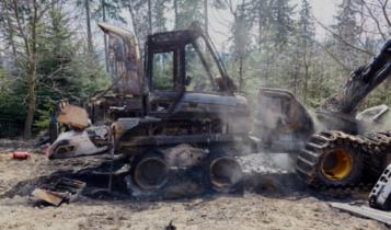 harwester spalony w leśnictwie Rozdroże/ fot. twitter