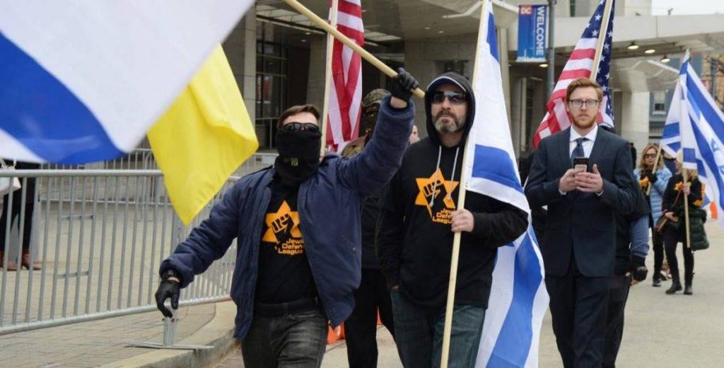 Aktywiści Jewish Defence League w USA