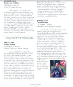 "Fragment publikacji FBI ""Terrorism 2000/2001"", s. 18"