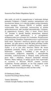 Żółkoś (Eli Zolkos) podaje się za asystennta Schudricha i kompromituje Magdalenę Ogórek, która publikuje ten list w sieci