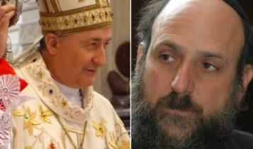 Biskup Andrzej Jeż i Michael Schudrich