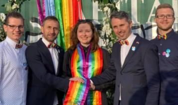 homo-ślub na paradzie LGBT w Gdańsku 2019/ fot. facebook