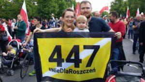 Marsz przeciwko żydowskim, bezprawnym roszczeniom / Fot. Jan Bodakowski