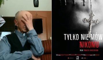 Jeden z antybohaterów dokumentu Tomasza Sekielskiego i plakat promujący film