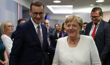 premier Morawiecki i kanclerz Merkel/ fot. twitter