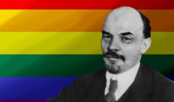 tęczowy Lenin/ autor: Dominik Cwikła