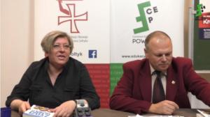 Katarzyna Treter Sierpińska na spotkaniu autorskim w Centrum Edukacyjnym Powiśle/ fot. screen