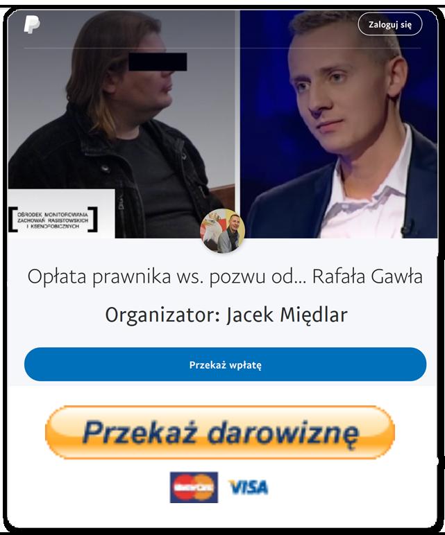 Opłata prawnika ws. pozwu od... Rafała Gawła