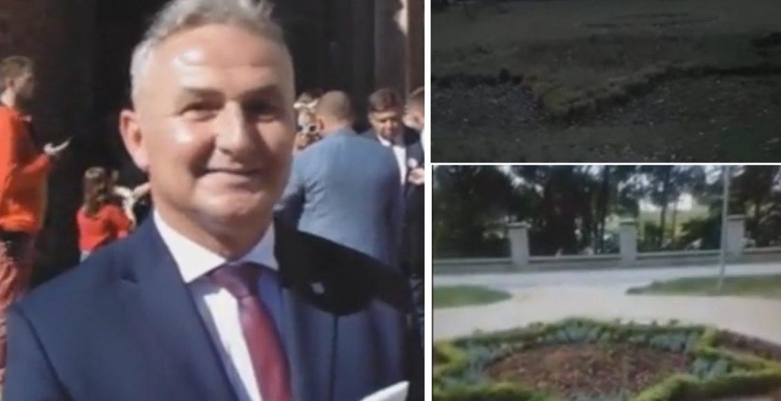 Burmistrz Jerzy Wrębiak i nasadzone żydowskie gwiazdy