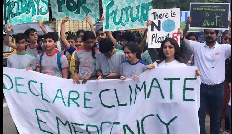 strajk klimatyczny w Indiach/ fot. Facebook/Greenpeace