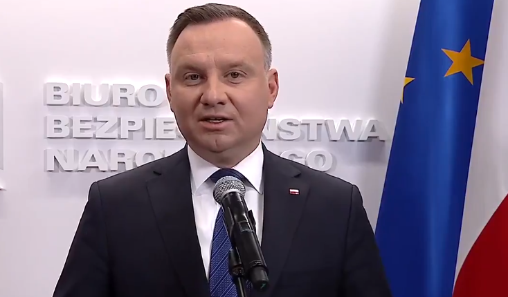 prezydent Andrzej Duda/ fot. screen