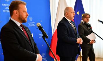 Szumowski, Sasin, Pinkas/ fot. Twitter Ministerstwo Aktywów Państwowych