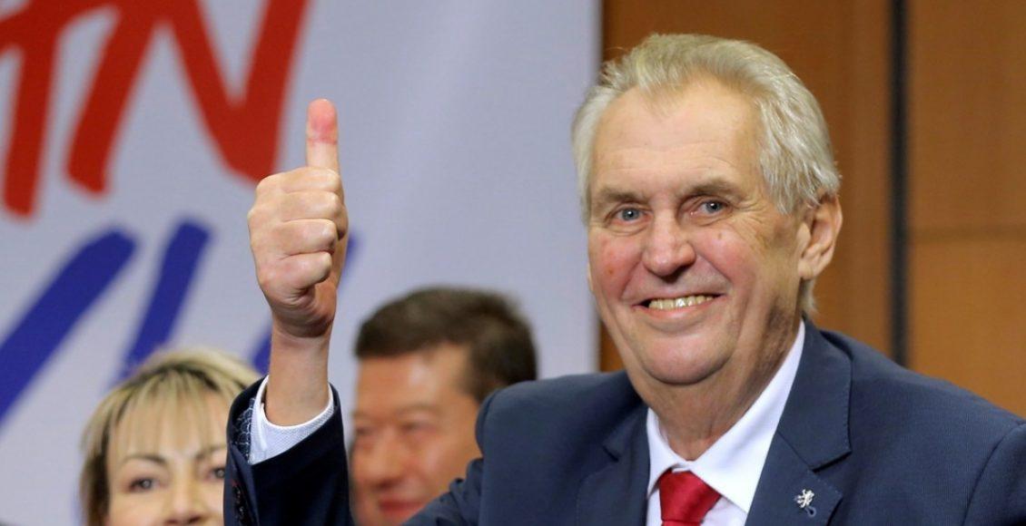 Prezydent Republiki Czeskiej Milos Zeman / Fot. scmp.com