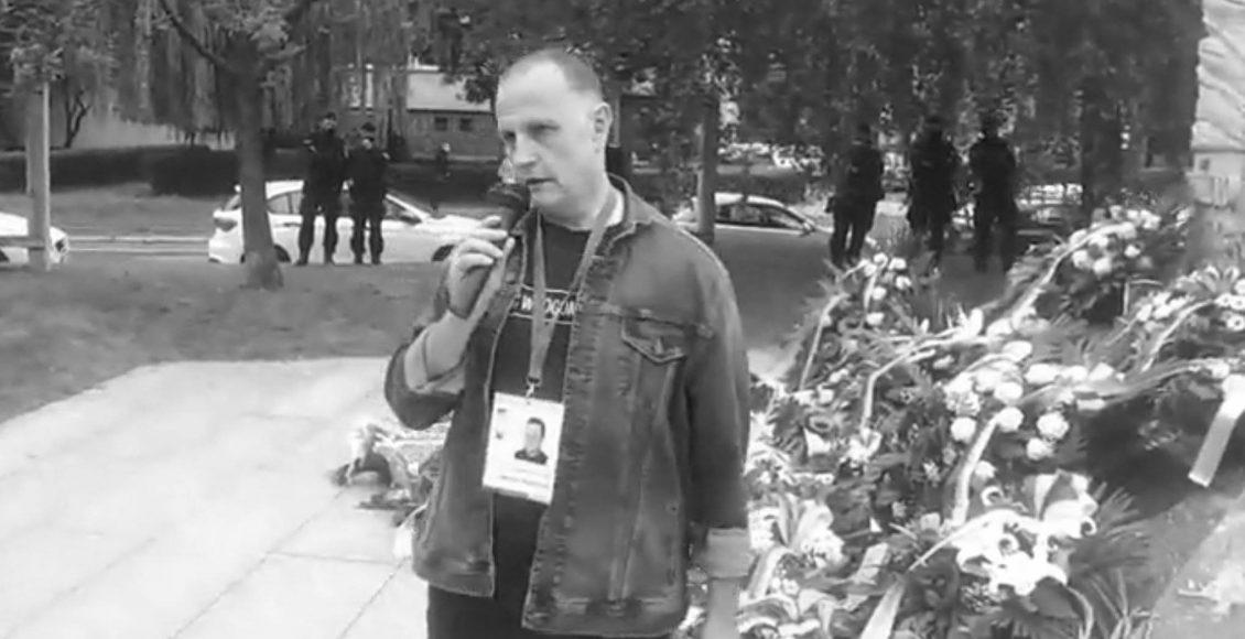 Roman Zieliński na ostatniej manifestacji w hołdzie ofiarom Rzezi Wołyńskiej - 11 lipca 2020