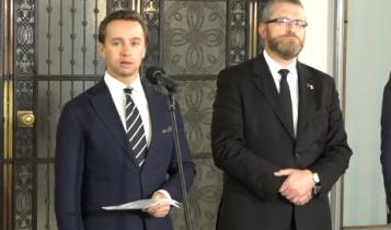 Krzysztof Bosak i Grzegorz Braun/ fot. screen