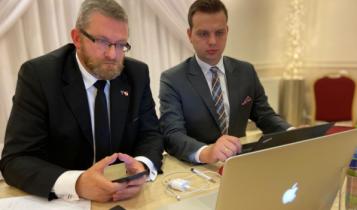 Grzegorz Braun i Jakub Kulesza/ fot. Facebook/Konfederacja