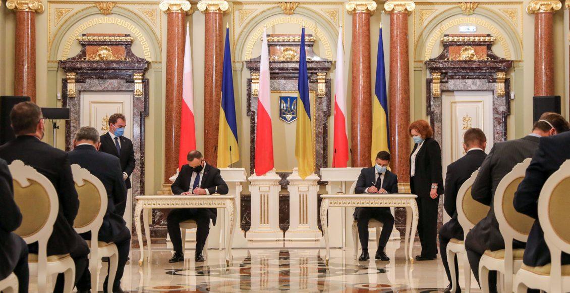 Duda i Zełenski podpisują wspólną deklarację / Fot. prezydent.pl